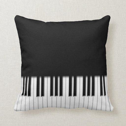 Llaves de teclado de piano cojín