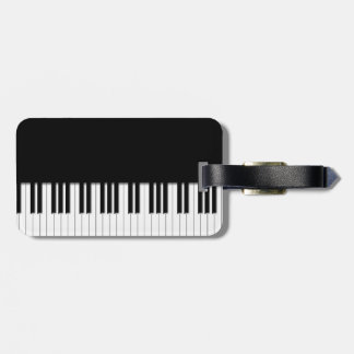 Llaves de teclado de piano etiqueta de equipaje