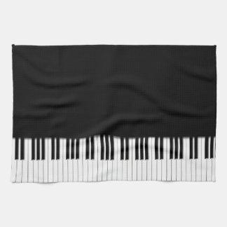 Llaves de teclado de piano toalla de cocina