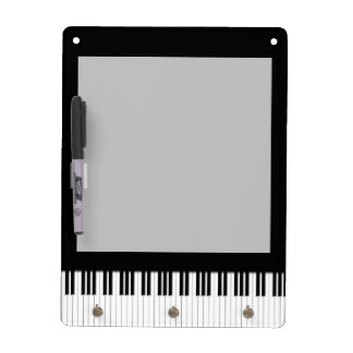 Llaves de teclado de piano tablero blanco