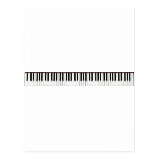 Llaves de teclado de piano postal