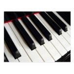 Llaves de teclado de piano tarjetas postales