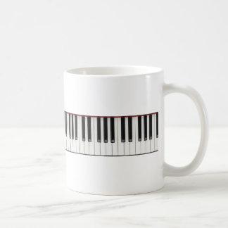 Llaves de teclado de piano taza básica blanca