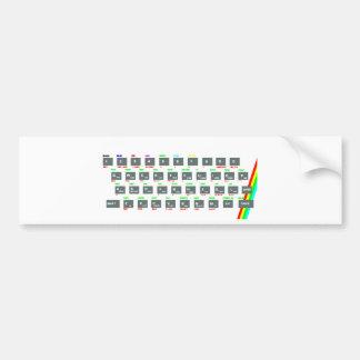 Llaves de teclado del espectro de Sinclair ZX Pegatina Para Auto