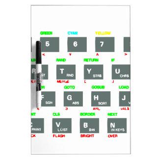Llaves de teclado del espectro de Sinclair ZX Tablero Blanco