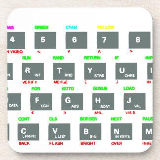 Llaves de teclado del espectro de Sinclair ZX Posavaso