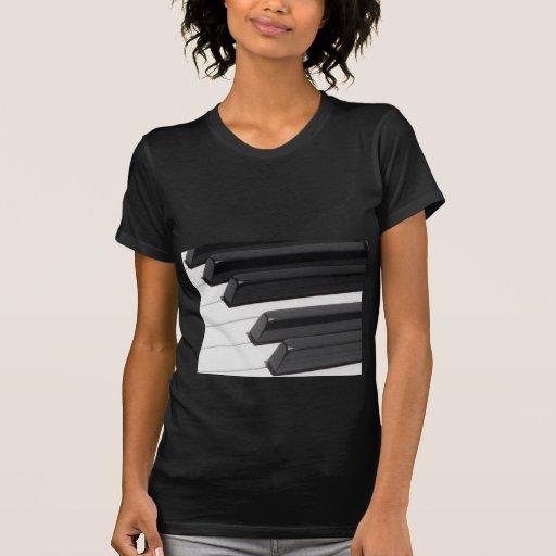 Llaves de teclado del piano o del órgano camiseta