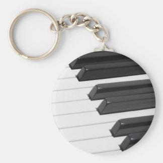 Llaves de teclado del piano o del órgano llavero