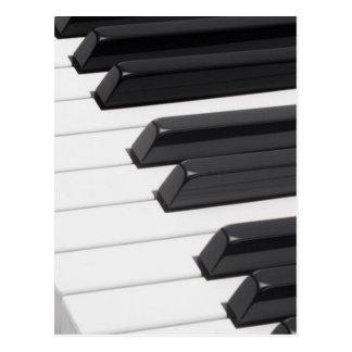 Llaves de teclado del piano o del órgano postales