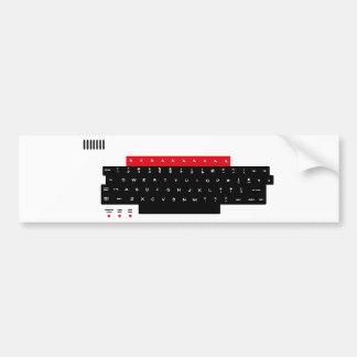 Llaves de teclado micro de la BBC Pegatina Para Auto