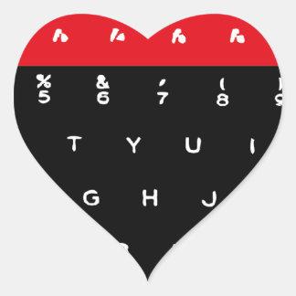 Llaves de teclado micro de la BBC Pegatina En Forma De Corazón