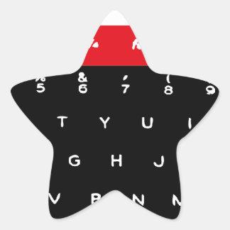 Llaves de teclado micro de la BBC Pegatina En Forma De Estrella