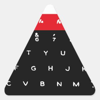 Llaves de teclado micro de la BBC Calcomania De Triangulo