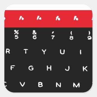 Llaves de teclado micro de la BBC Pegatina Cuadrada