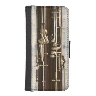 Llaves del Bassoon en efecto del dril de algodón Funda Tipo Billetera Para iPhone 5