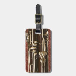 Llaves del Bassoon en personalizable rojo oscuro Etiquetas De Equipaje