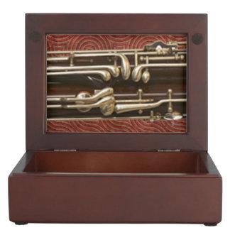 Llaves del Bassoon en rojo oscuro Caja De Recuerdos