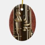 Llaves del Bassoon en rojo oscuro Adorno Para Reyes