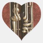 Llaves del Bassoon Pegatina En Forma De Corazón