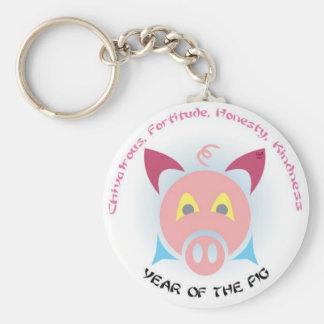 Llaves del cerdo llavero personalizado