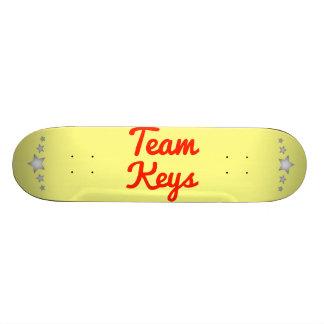 Llaves del equipo tablas de patinar