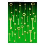 Llaves del oro en verde felicitacion