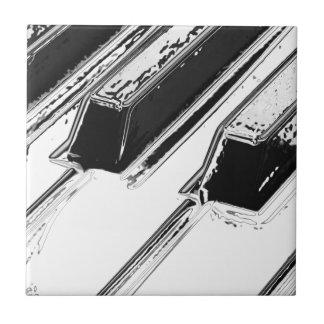 Llaves del piano azulejo cerámica