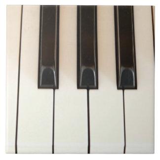 Llaves del piano azulejos