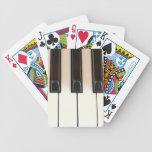 Llaves del piano baraja de cartas