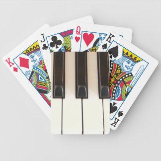 Llaves del piano baraja de cartas bicycle