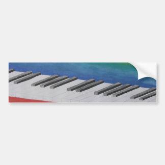 Llaves del piano etiqueta de parachoque