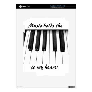 Llaves del piano calcomanía para iPad 2