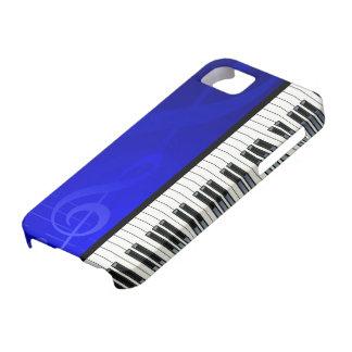 Llaves del piano con las notas musicales del efect iPhone 5 carcasas