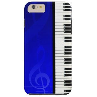Llaves del piano con las notas musicales del funda de iPhone 6 plus tough