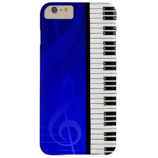 Llaves del piano con las notas musicales del funda de iPhone 6 plus barely there
