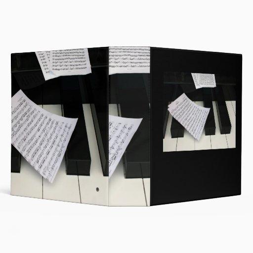 """Llaves del piano con música carpeta 2"""""""