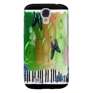 Llaves del piano de las mariposas funda samsung s4