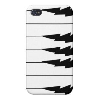 Llaves del piano de LIghtining - caso de Iphone iPhone 4 Coberturas