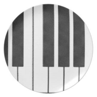 ¡Llaves del piano en la llave de mí! Platos De Comidas
