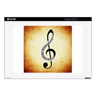 Llaves del piano en un Clef de la música Portátil 38,1cm Skin