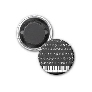 Llaves del piano imán redondo 3 cm