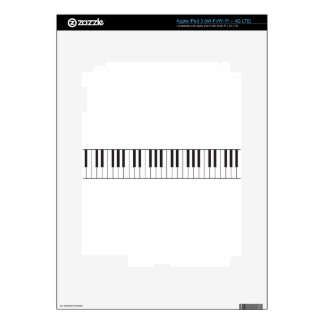 Llaves del piano iPad 3 pegatinas skins