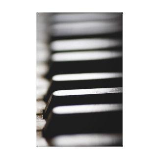 Llaves del piano impresiones en lienzo estiradas