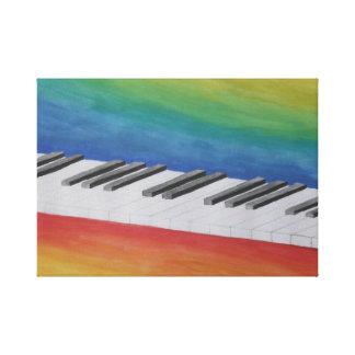Llaves del piano lona estirada galerías