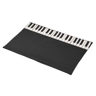 Llaves del piano manteles individuales
