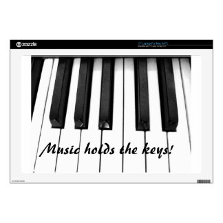 Llaves del piano portátil calcomanía