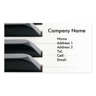 Llaves del piano que se descoloran al blanco brill tarjeta de visita