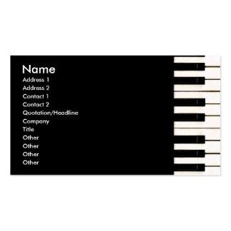 Llaves del piano tarjetas personales