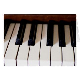 Llaves del piano tarjeta pequeña