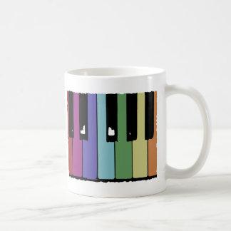 Llaves del piano taza clásica